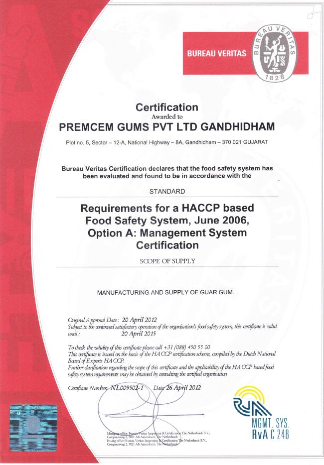 HACCP Gandhidham